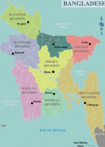 Administrative Map of Bangladesh   Detailed Administrative Map