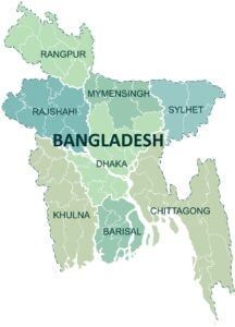 Cities Map of Bangladesh | Cities And Towns Map