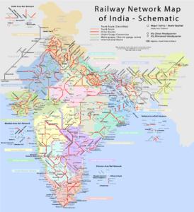Railway Map of India | Indian Railways Network Map
