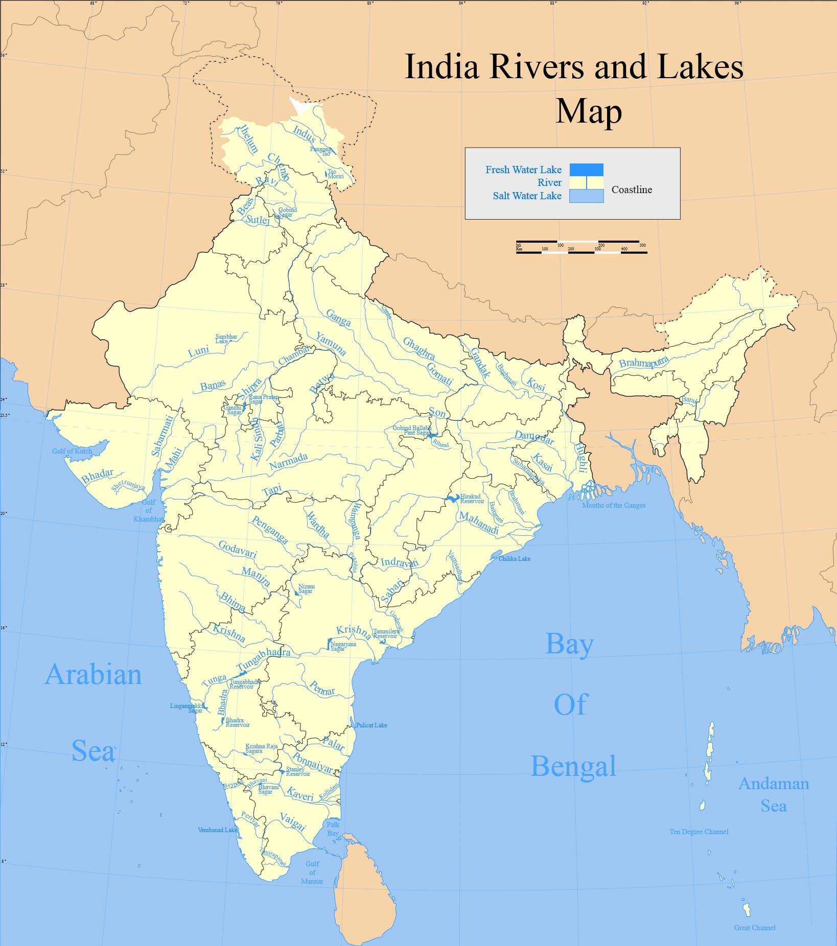 Some Major Rivers In India