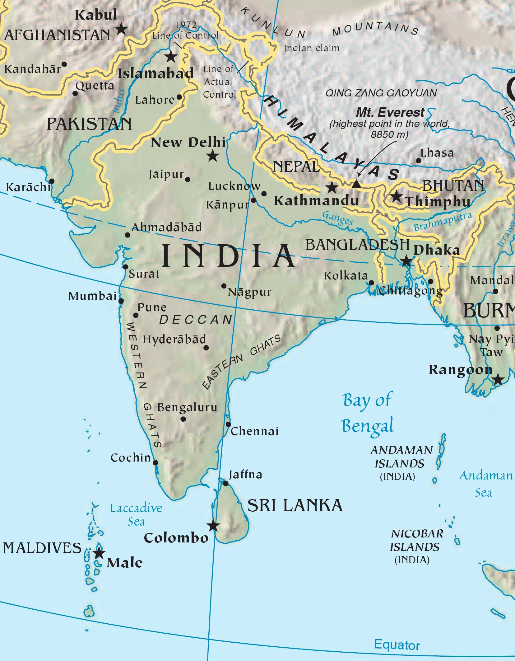 HD Map of India