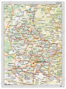 Road Map of Luxembourg | Luxembourg Motorways Map