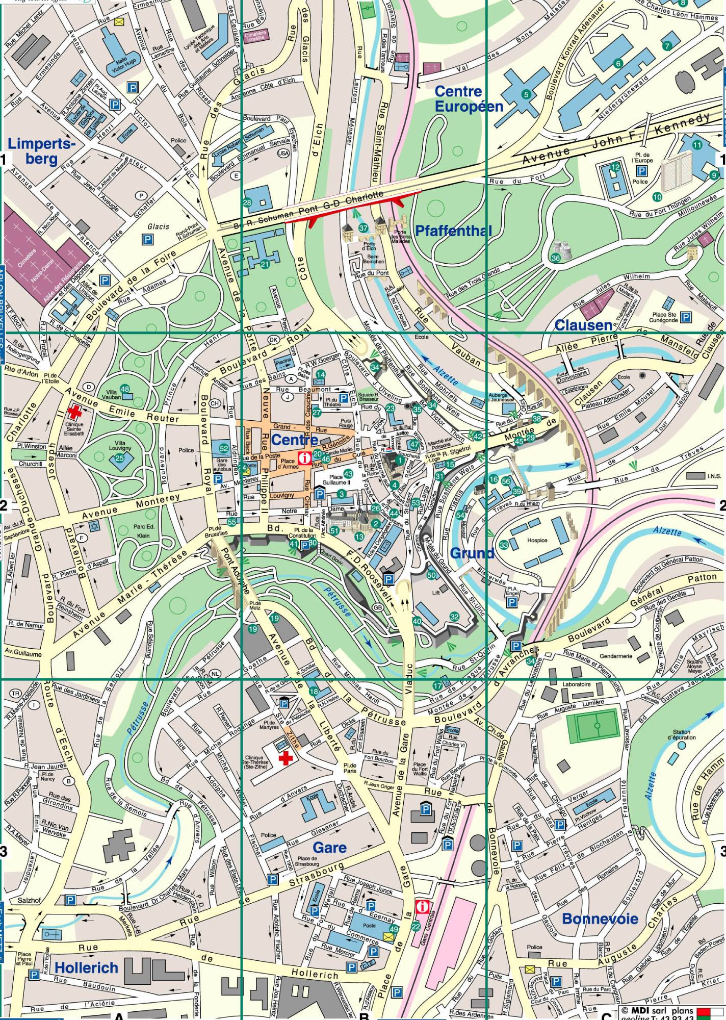 Tourist Map of Luxembourg | Luxembourg Travel Guide