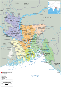 Political Map Of Bangladesh   Detailed Political Map
