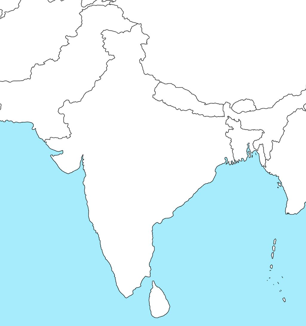 Picture of: Blank Map Of India Outline Map Of India Whatsanswer
