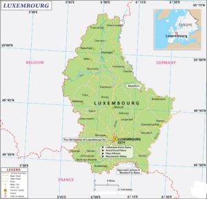 Latitude And Longitude Map of Luxembourg | Where Is Luxembourg?
