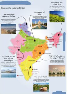Tourist Map of India | Indian Travel Map