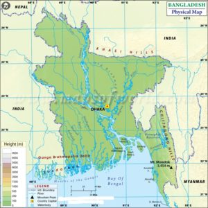 Latitude And Longitude Map Of Bangladesh   Where Is Bangladesh ?