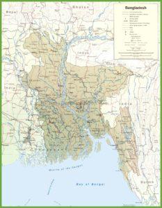 Road Map Of Bangladesh   Bangladesh Transport Map