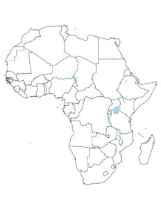 Blank Map of Africa   Large Outline Map of Africa