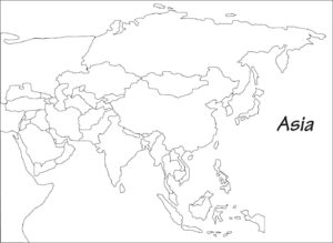 Blank Map of Asia | Printable Outline Map of Asia