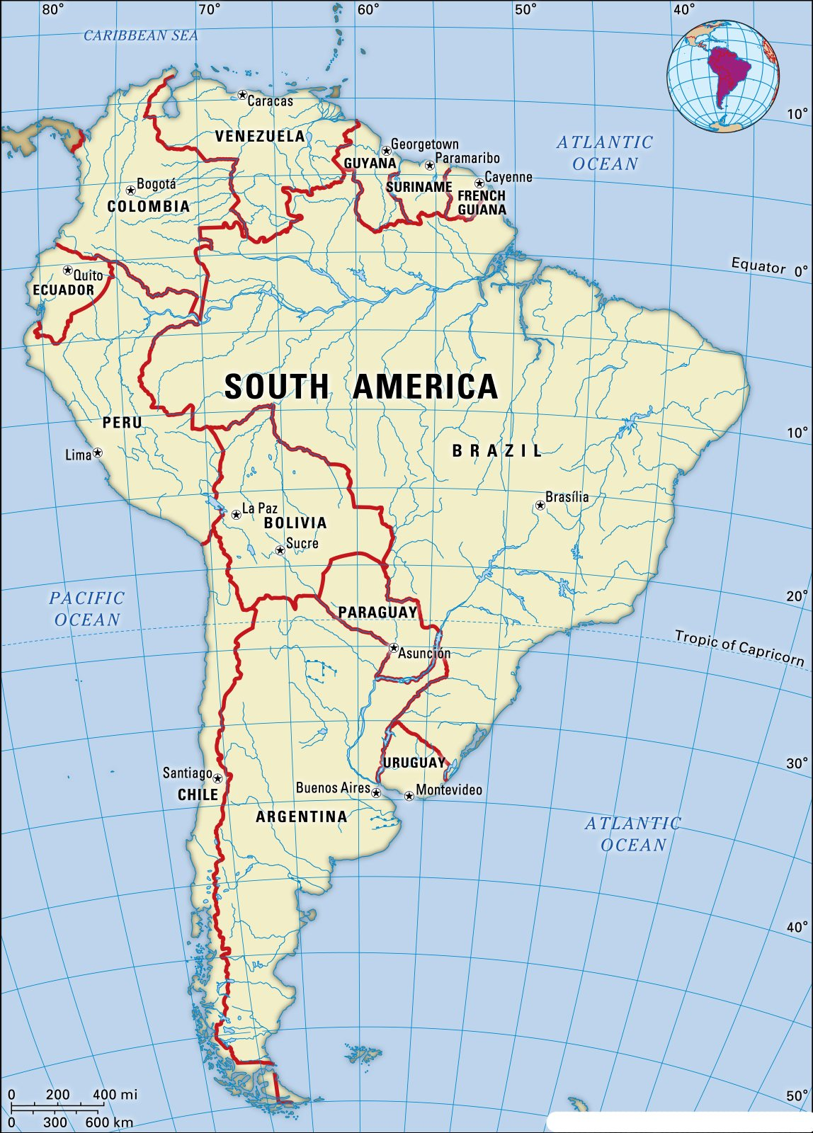 Map of South America | Printable Large Attractive HD Map of South America