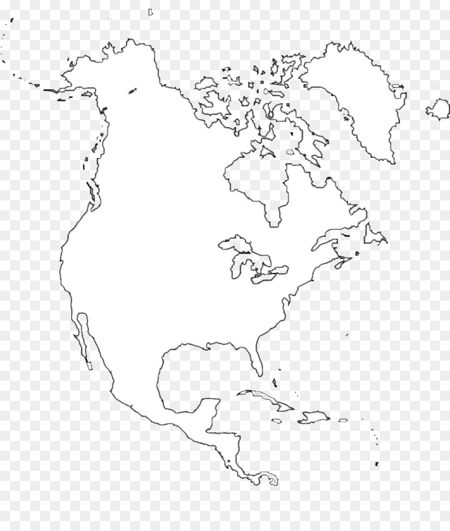 Outline Map Of North America Printable Blank Map Of North America Whatsanswer