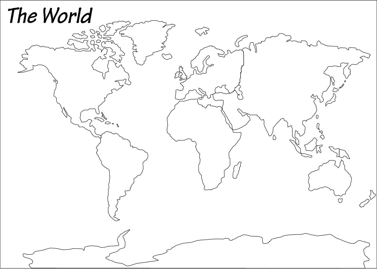 Picture of: The World Antique Outline Map 1983 Large Printable Hd And Standard Map Whatsanswer