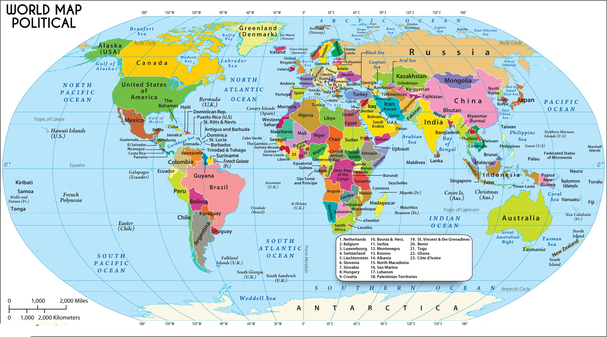 Political Map of The World | World Political Border Map