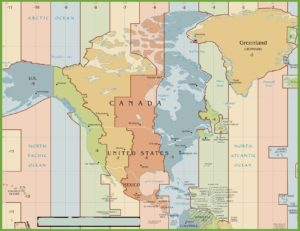 Time Zone Map of North America   North America Map