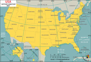 Latitude And Longitude Map of USA | Where Is the US?