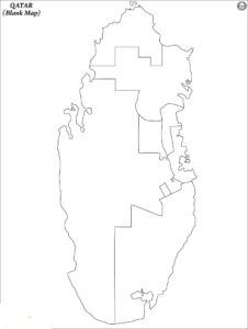 Blank Map of Qatar   Blank Outline Map