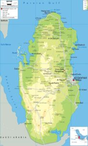 Physical Map of Qatar   Major Physical Features
