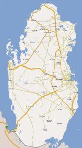 Road Map of Qatar   Qatar Highways Map
