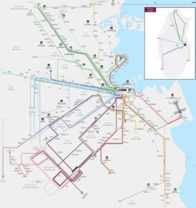Transportation Map of Qatar   Bus, Train and Metro Map