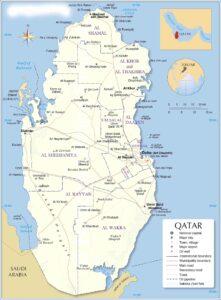Map of Qatar   Political Map of Qatar