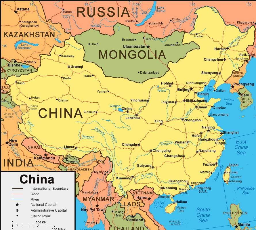 What Is The National Map of China?