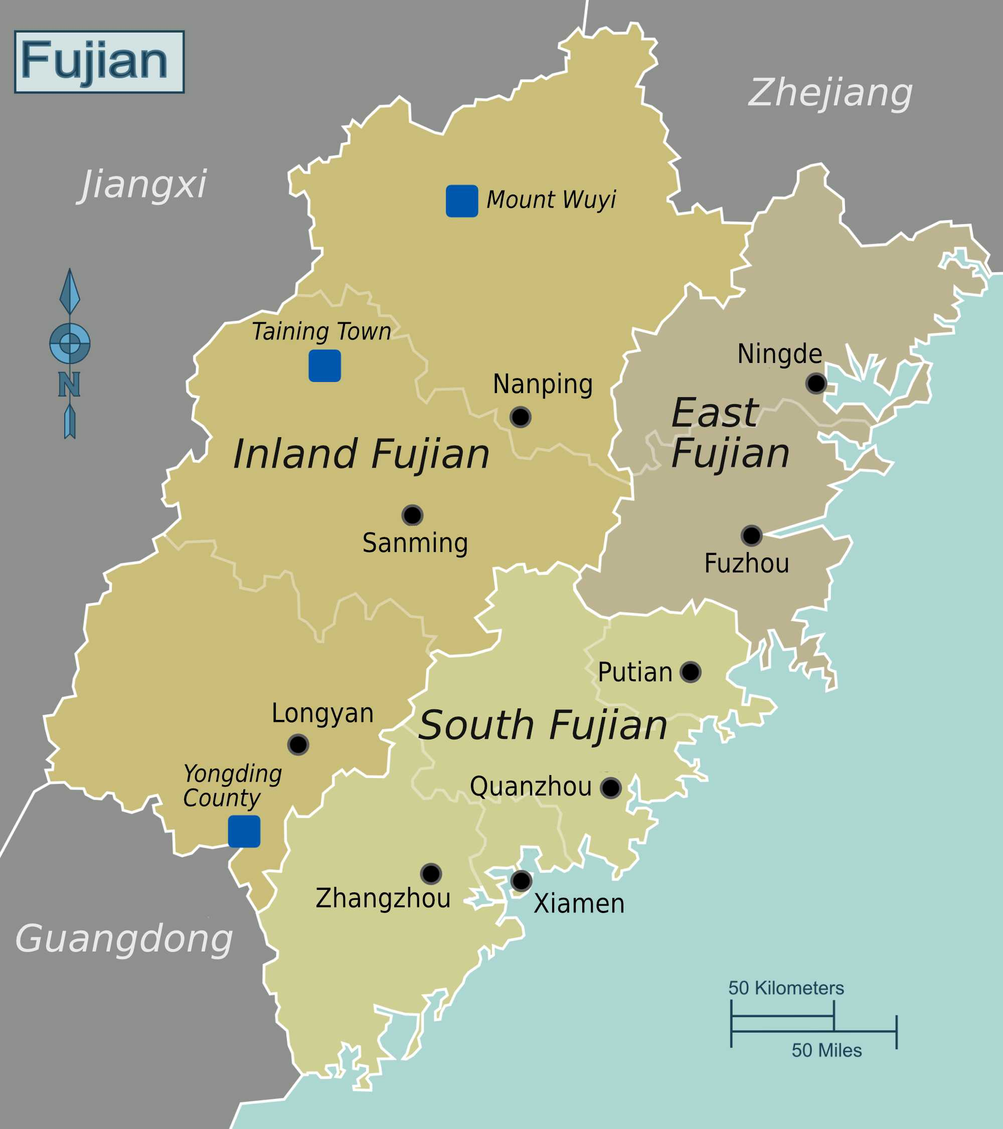 Map of Fujian Province | Political, Geography, Transportation And Cities Map