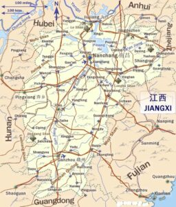 Map of Jiangxi Province | Political, Geography, Outline And Cities Map