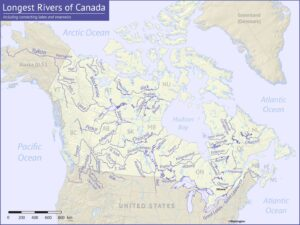 River Map of Canada | List of Major Rivers in Canada