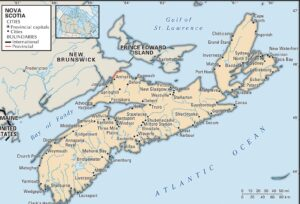 Map of Nova Scotia Province | Political, Geography And Cities Map